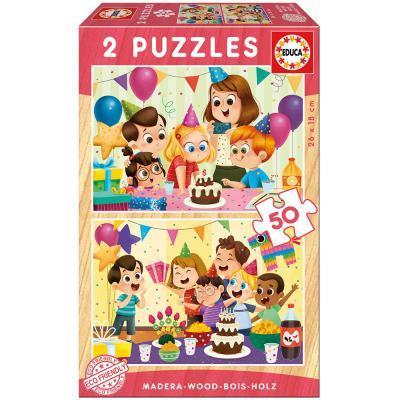 Educa Születésnapi öko fa puzzle, 2x50 darabos