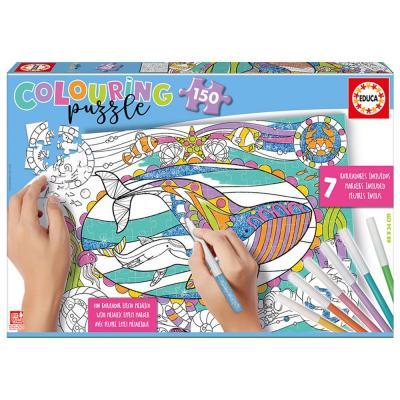 Educa Tengeri élővilág színezhető puzzle, 150 darabos