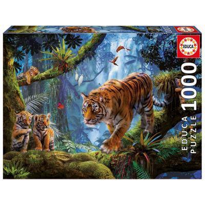 Educa Tigrisek a fán puzzle, 1000 darabos