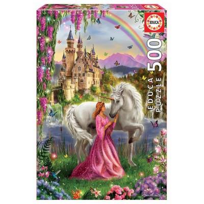 Educa Tündér és az unikornis puzzle, 500 darabos