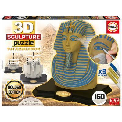 Educa Tutankhamon fáraó 3D puzzle, arany kiadás