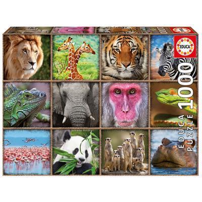 Educa Vadállatok puzzle, 1000 darabos