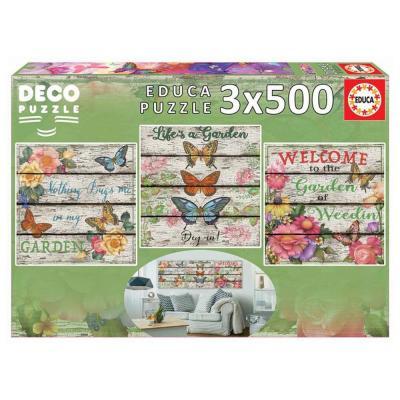 Educa Vidéki kert puzzle, 3x500 darabos