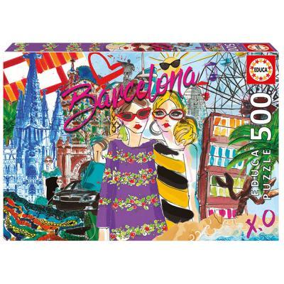 Educa Vigyél el Barcelonába puzzle, 500 darabos