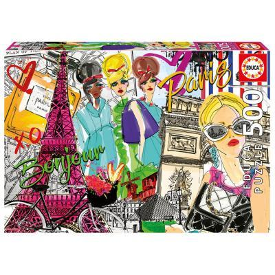 Educa Vigyél el Párizsba puzzle, 500 darabos