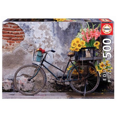 Educa Virágos bicikli puzzle, 500 darabos