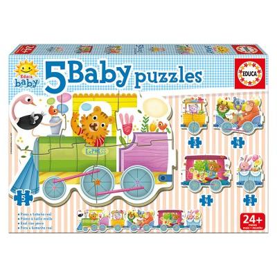 Educa Vonatos bébi puzzle, 5 az 1-ben
