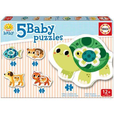 Educa állatok bébi puzzle, 5 az 1-ben 17573