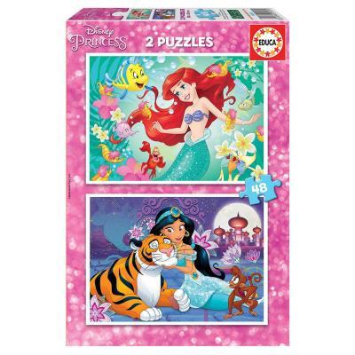 Educa Disney Ariel és Jázmin puzzle, 2x48 darabos