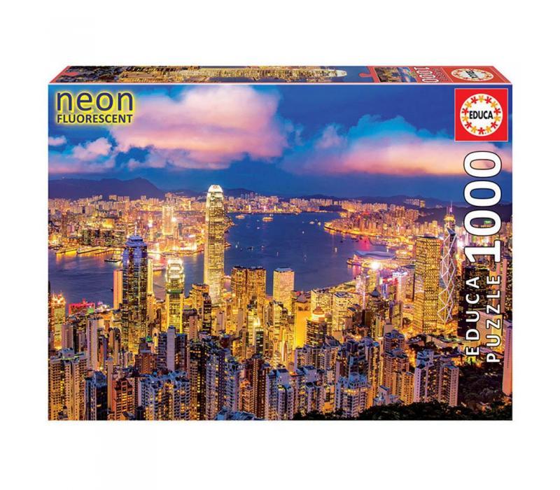 Educa Hong Kong neon puzzle, 1000 darabos