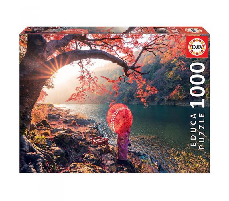 Educa Napkelte a Katsura folyónál puzzle, 1000 darabos