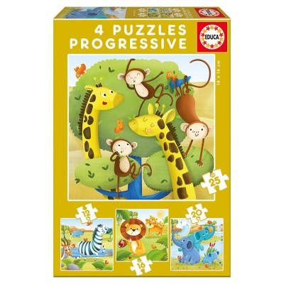 Educa Vadállatok 4 az 1-ben puzzle