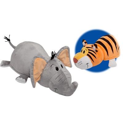 Plüsstesók elefánt/tigris