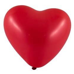 Bordó szív alakú lufi csomag, 10 darabos
