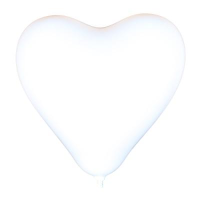 Fehér szív alakú lufi csomag, 10 darabos