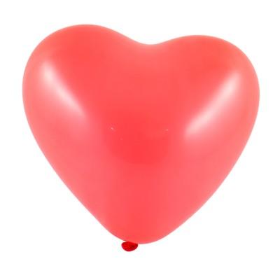 Piros szív alakú lufi csomag, 100 darabos