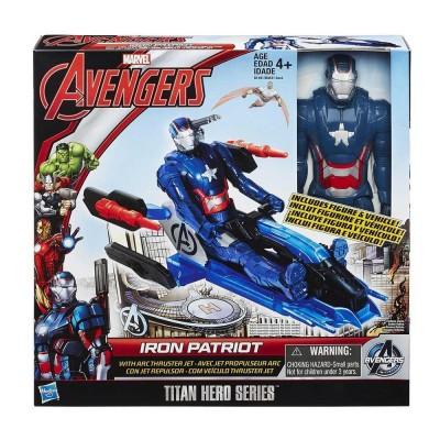 Avangers - Bosszúállók  Titán Hősök Iron Patriot figura, járművel