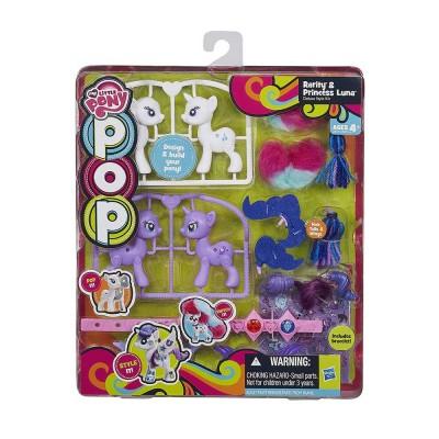Én Kicsi Pónim POP Rarity és Luna játékszett