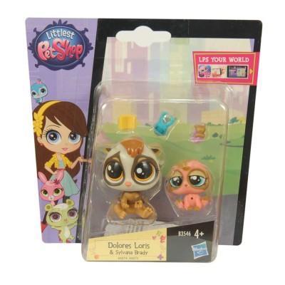 Littlest Pet Shop Dolores Loris és Sylvana Brady picurka kedvenc