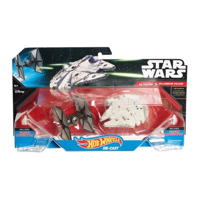 Hot Wheels Star Wars First Order Tie Fighter vs. Millennium Falcon űrhajók