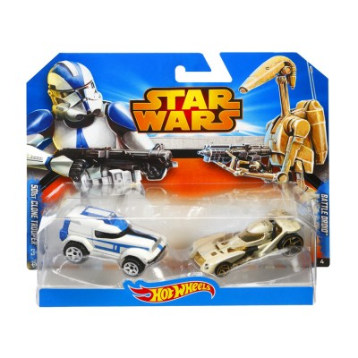Hot Wheels Star Wars kisautók, 501st Clone Trooper vs. Battle Droid