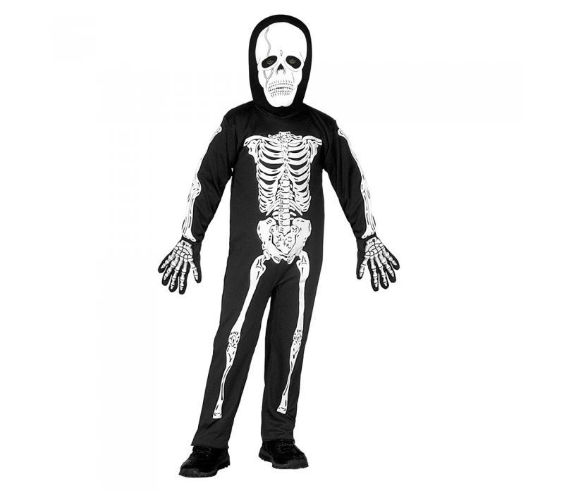 Csontváz gyerek jelmez, 110-es méretben