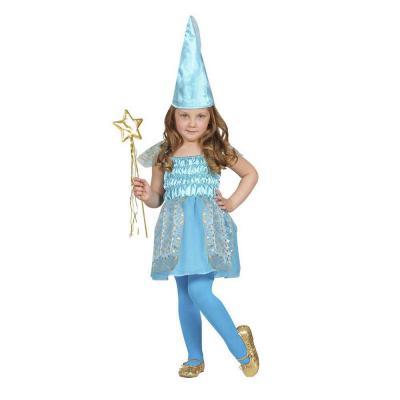 Kék tündér gyerek jelmez, 104-es méretben