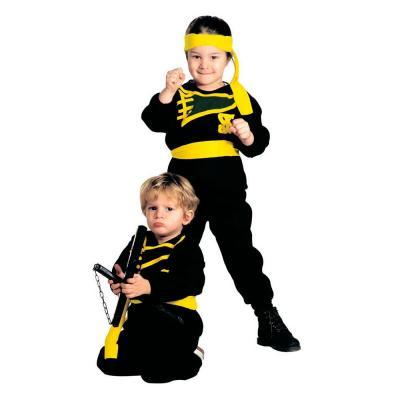 Ninja gyerek jelmez, 104-es méretben