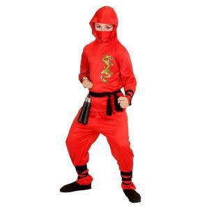 Vörös sárkány ninja jelmez, 128-as méretben