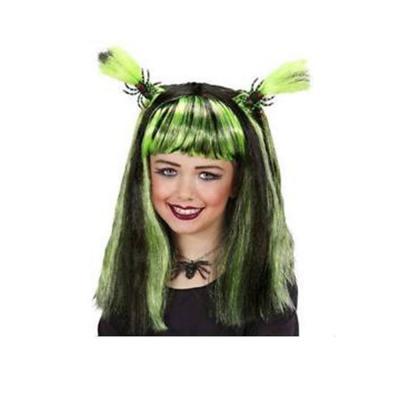 Halloween paróka, zöld
