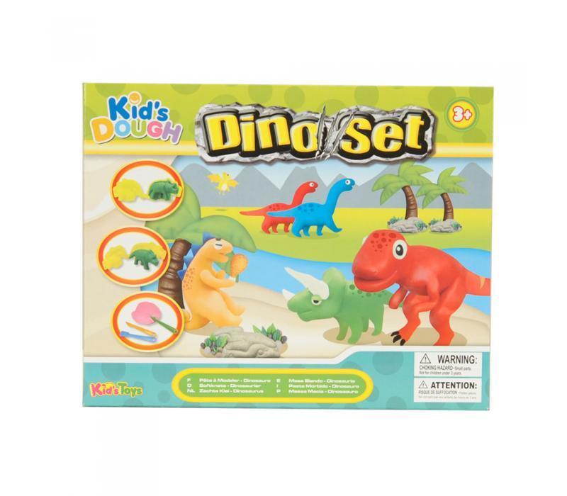Dinoszauruszos gyurmakészlet, 13 darabos