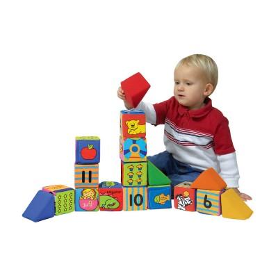 Ks Kids Építs és tanulj, puha építőkockák