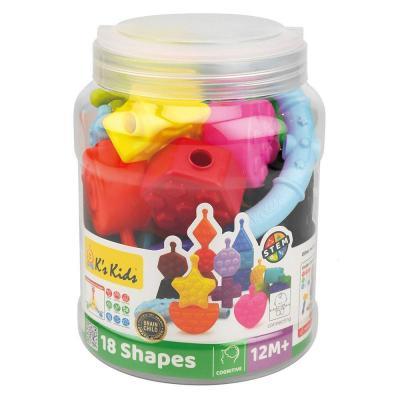 Ks Kids építhető formák, 18 darabos