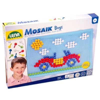 Lena Mozaik készlet 200 darabos, fiús