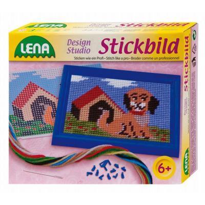 Lena játék hímzőkészlet, kutya