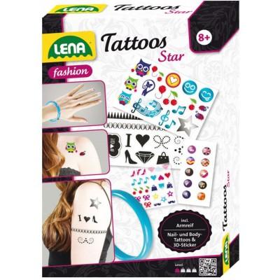 Lena tetováló szett, karkötővel