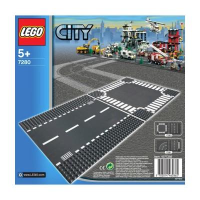 Lego City Egyenes és kereszteződés alaplap 7280
