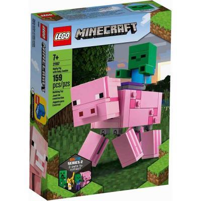 LEGO Minecraft BigFig malac Zombibabával 21157