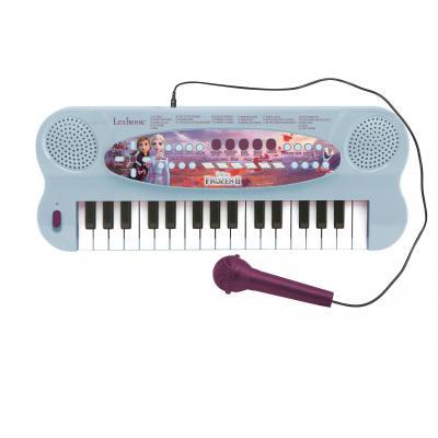Lexibook- Jégvarázs Elektromos zongora mikrofonnal és 32 billentyűvel