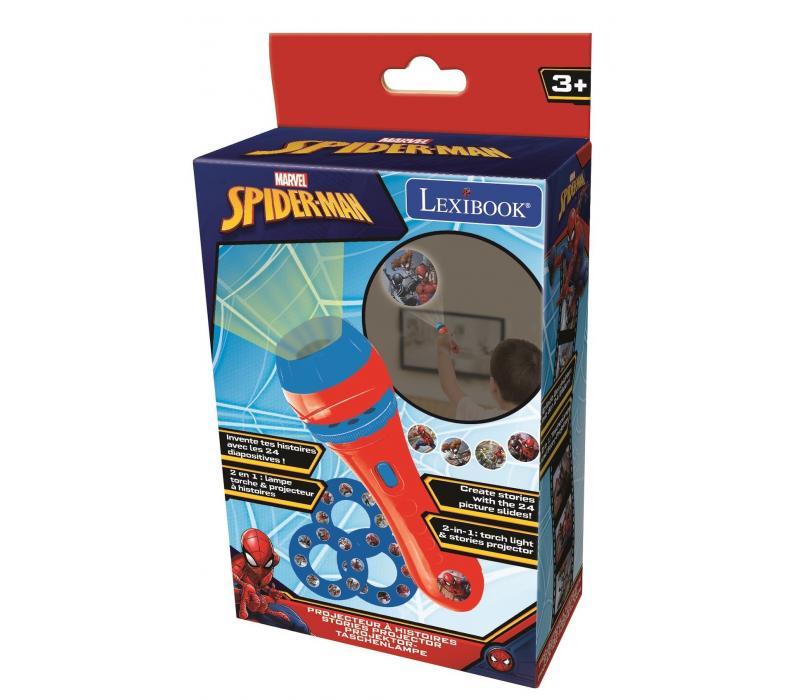 Pókember zseblámpa és projektor 3 cserélhető dia koronggal, 24 karakterrel