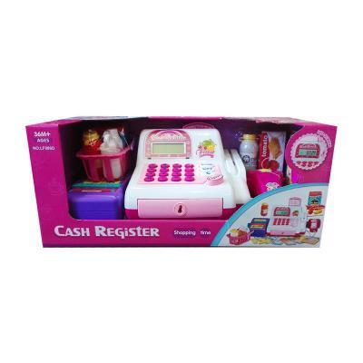 Játék pénztárgép, rózsaszín