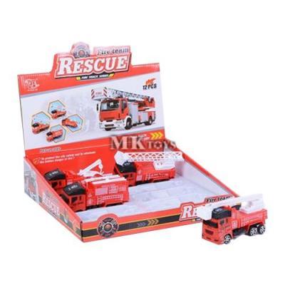 Játék tűzoltóautó, 4 féle