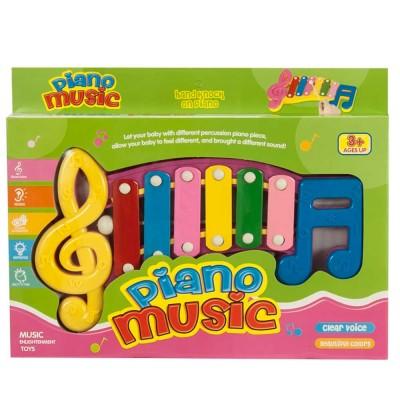 Játék xilofon, rózsaszín