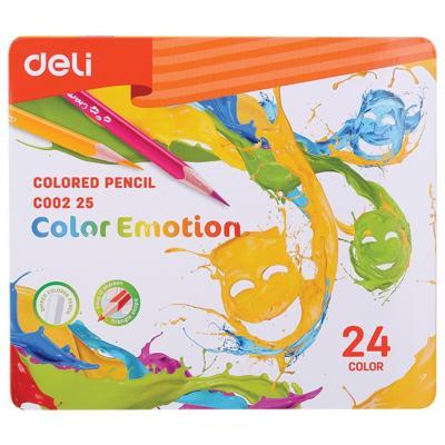 Fémdobozos  24 db-os színesceruza készlet, DELI