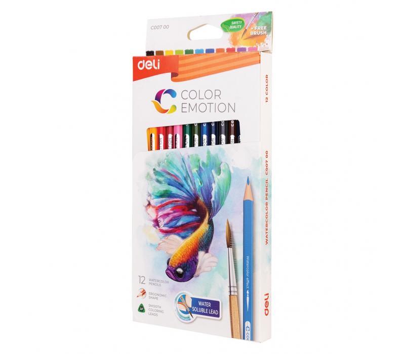 Akvarellceruza klt - CE / 12db DELI