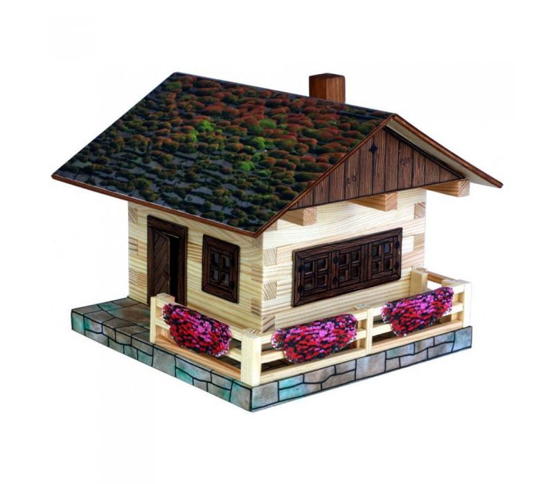 Alpesi ház építő makettjáték,. 103 db-os