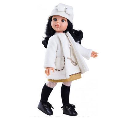 Carina fekete hajú játékbaba, 32 cm