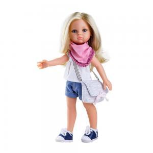 Claudia nyári ruhás játékbaba, 32 cm