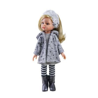 Claudia téli ruhás játékbaba, 32 cm