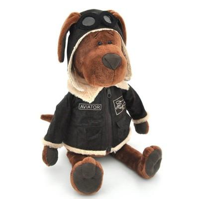 Cookie plüss pilóta kutya, 25 cm